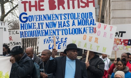 Chagossians protest at Downing Street in 2016