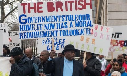 Chagossians protest in London in December