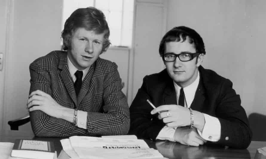 Tony Calder, right, in 1965 with Andrew Loog Oldham, his business partner in the Immediate record label, set up to record hip new acts such as the Small Faces and Nico.