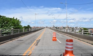 View of an empty bridge in the city of Sao Luis, Maranhao state, Brazil, 5 May 2020.