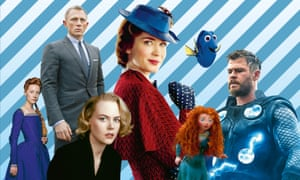 From left: Mary Queen of Scots; Skyfall; The Others; Mary Poppins Returns; Brave; Finding Dory; Avengers: Endgame.