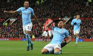 Otamendi celebrates scoring the second goal for City.
