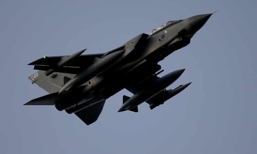 An RAF Tornado over Akrotiri, Cyprus