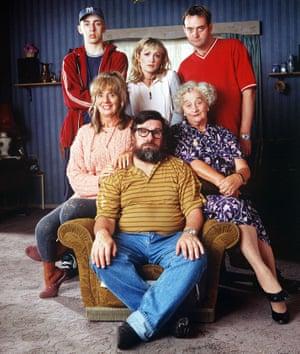 Caroline Aherne, with her Royle Family co-stars Ralf Little, Craig Cash, Sue Johnston, Ricky Tomlinson and Liz Smith.