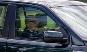 Prince Philip behind the wheel in 2018