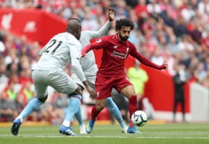 Salah, on the attack.