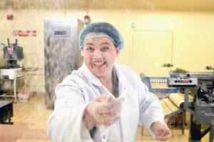 Flour power: Ruth Davidson, leader of the Scottish Conservatives, campaigns with local candidate Alister Jack at Express Bakery in Dumfries on Wednesday