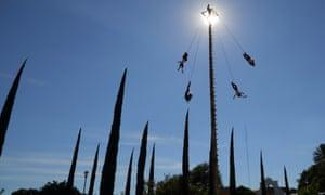 Huaquechula. flying men, Mexico
