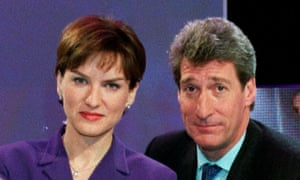 The BBC paid Fiona Bruce and Jeremy Paxman (pictured in 2001) 'off-payroll' to avoid tax.