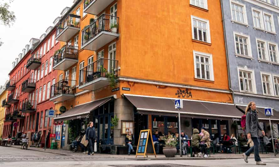 A reopened cafe in Copenhagen, Denmark, 18 May.
