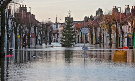 The flooded high street in Cockermouth in the Lake District, days after Storm Desmond on 6 December 2015