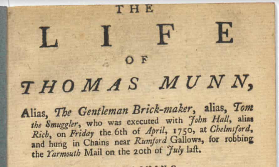 The Life of Thomas Munn, alias, the Gentleman Brick-Maker, alias, Tom the Smuggler, runs to 24 pages.