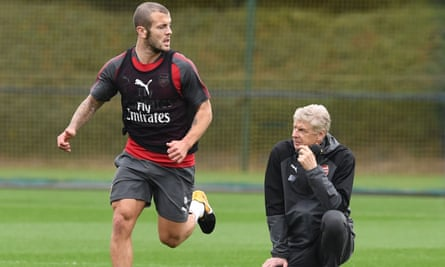 Jack Wilshere and Arsène Wenger