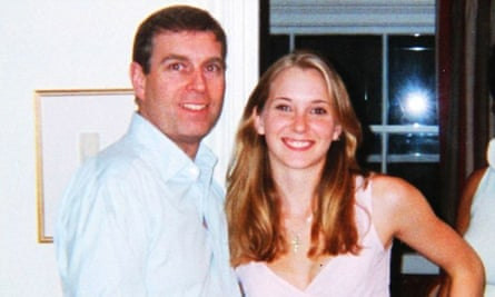 Prince Andrew and Virginia Roberts, now Giuffre, aged 17 at Ghislaine Maxwell's townhouse in London, 2001.