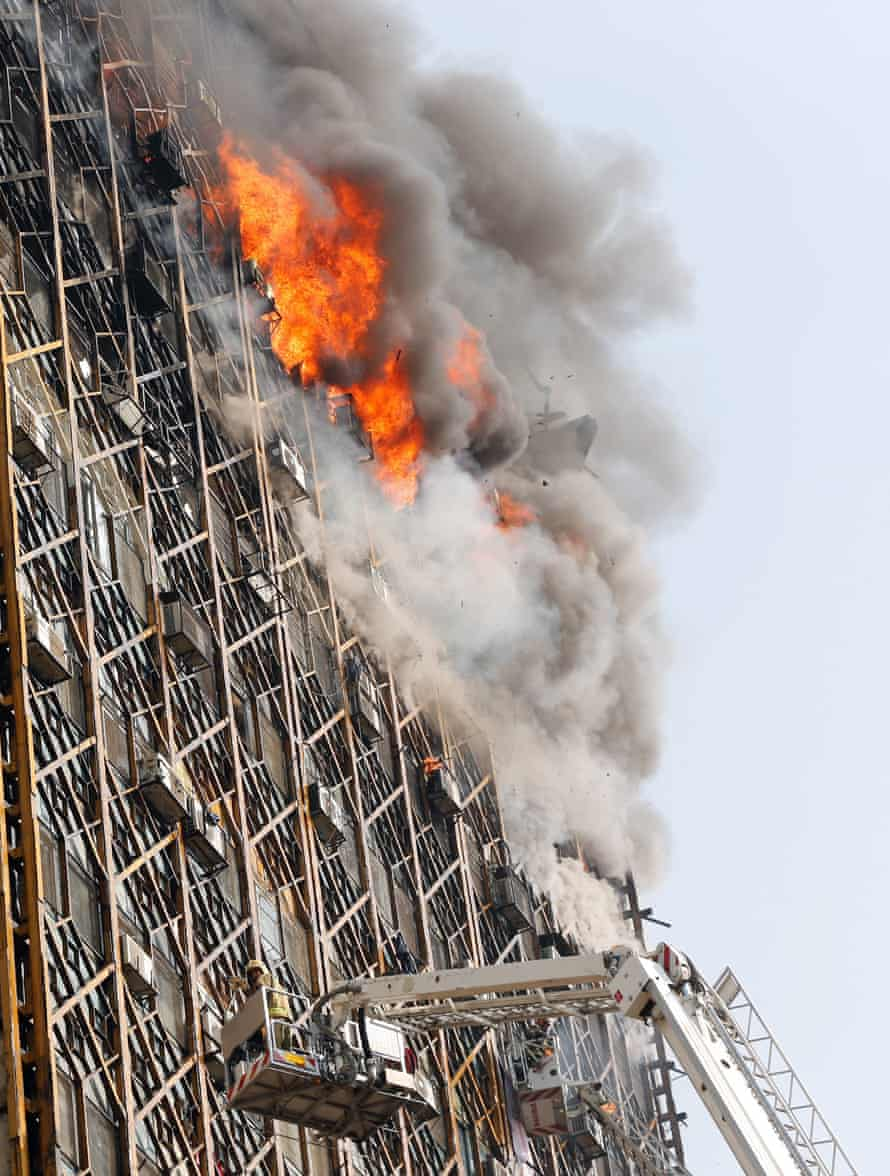The blaze at the Plasco building.