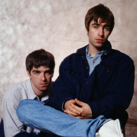 Noel Gallagher and Liam Gallagher of Oasis.