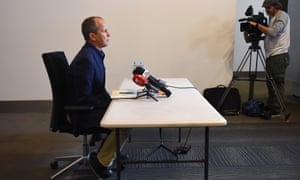 Peter Greste answers a question during a media conference in Sydney on Sunday.