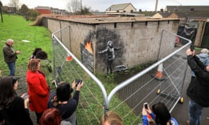 Banksy artwork on Port Talbot garage has become a tourist attraction in the south Wales town.