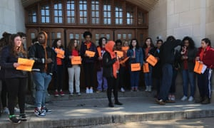 Columbia high school in Maplewood, New Jersey protest