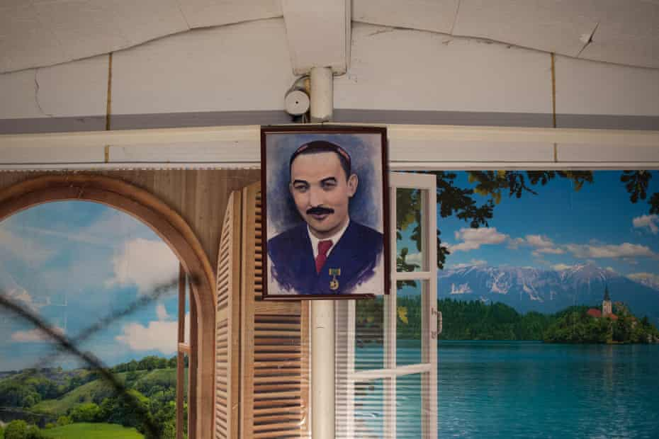 Portrait of the second president of the East Turkestan Republic, Ehmetjan Qasim