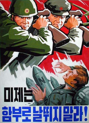 'US imperialists shouldn't carelessly provoke war,' one poster argues