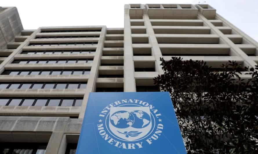 The International Monetary Fund (IMF) headquarters building in Washington.
