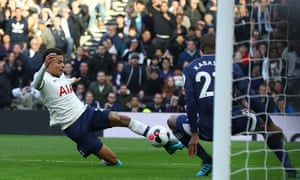 Dele Alli scores for Spurs to make it 1-1 with Watford.