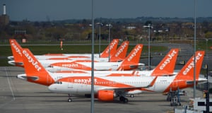 EasyJet aircraft parked at Southend airport in November last year.