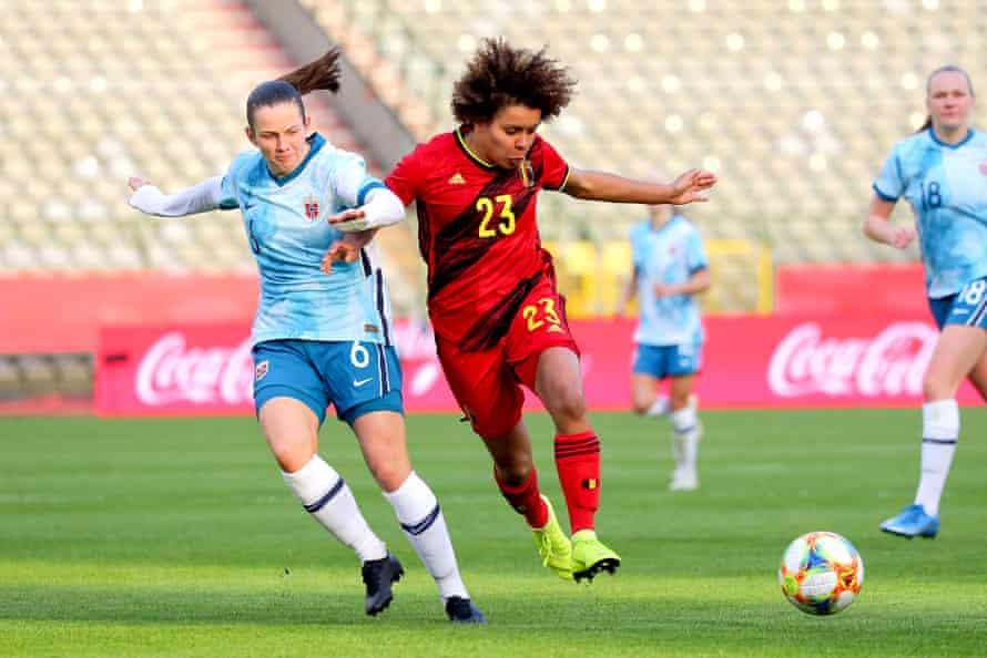 Belgium's Kassandra Missipo in action against Norway.