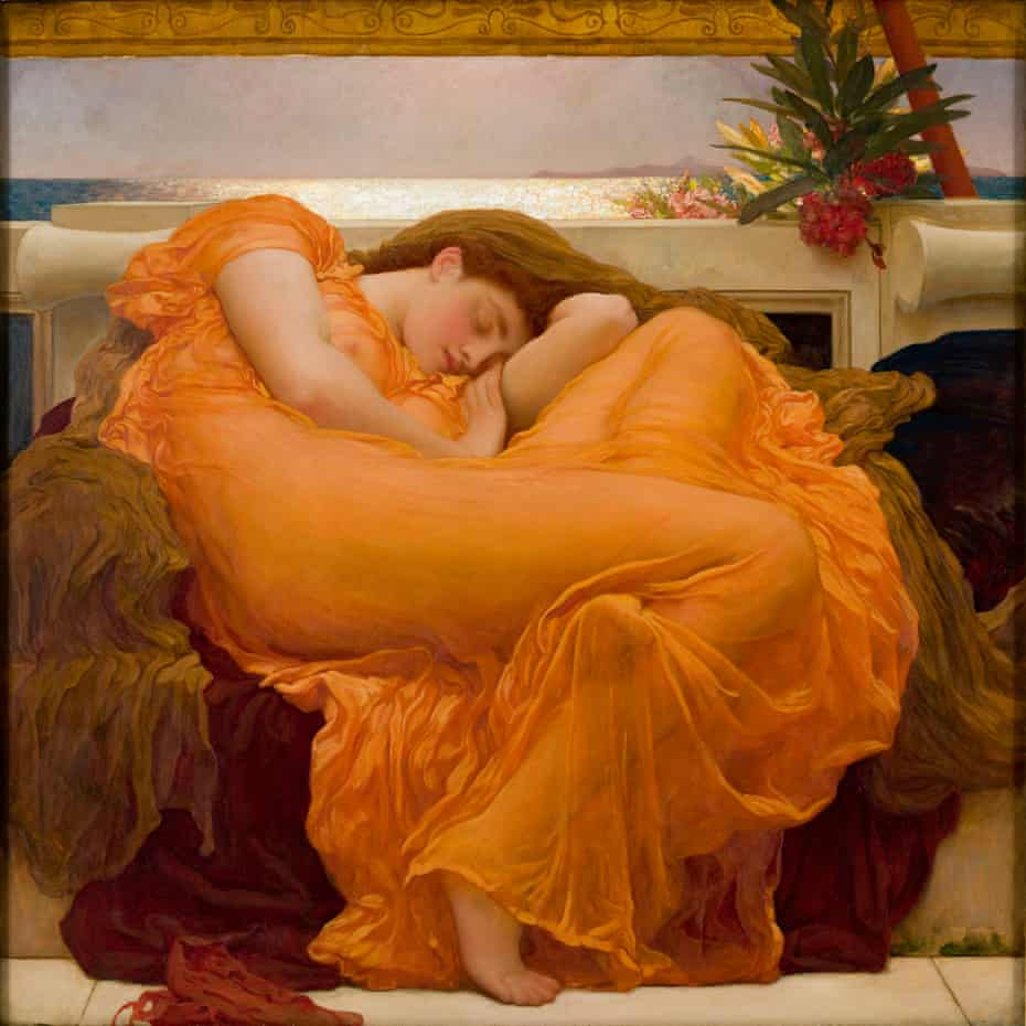 Flaming June, Leighton's 'unquestioned masterpiece'.