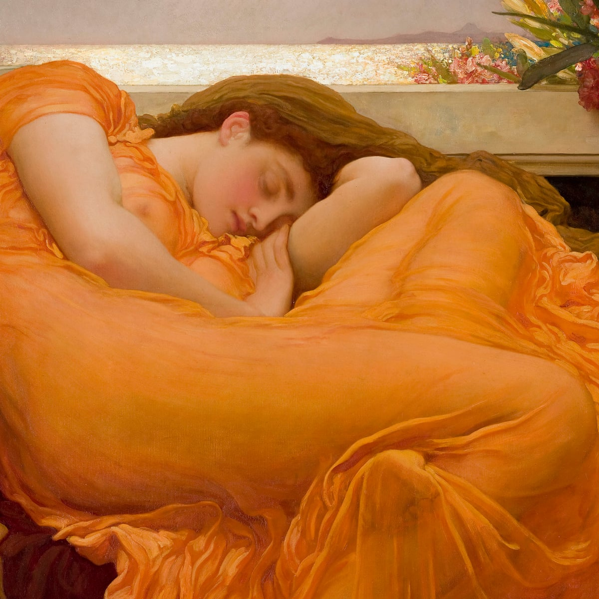 Frederic Leighton S Flaming June The Mona Lisa Of The Southern Hemisphere Art The Guardian
