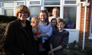Anne Robinson's Britain: (left to right) Robinson, Tiggi, Anni Jones, Jamie, Gianni, Shaune and Alfie