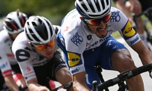 Julian Alaphilippe  of Deceuninck-Quick Step should prosper on this year's mountainous route.