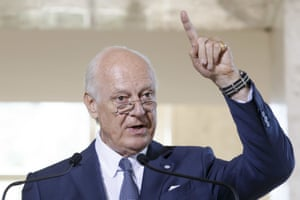 Staffan de Mistura, who set out an optimistic scenario for the end of the Syrian civil war.