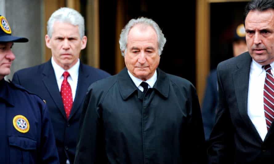 Bernie Madoff leaves federal court in 2009. Judge Denny Chin called Madoff's crimes 'extraordinarily evil'.