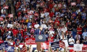 Donald Trump in Tulsa.