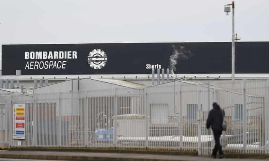Bombardier plant in Belfast, Northern Ireland