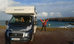 Emma Jane Unsworth with her motorhome in Durness, Scotland