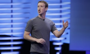 Mark Zuckerberg, chief executive of Facebook, delivers the keynote address