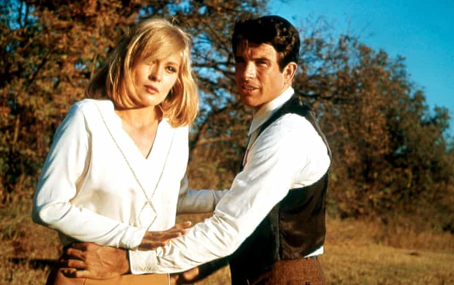 Faye Dunaway and Warren Beatty in the 1967 film Bonnie and Clyde.