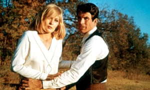 Fayr Dunaway and Warren Beatty as Bonnie and Clyde.