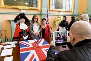 British citizenship ceremony in Bristol.