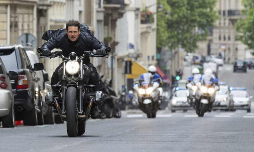 Tom Cruise in a scene from Mission: Impossible – Fallout.