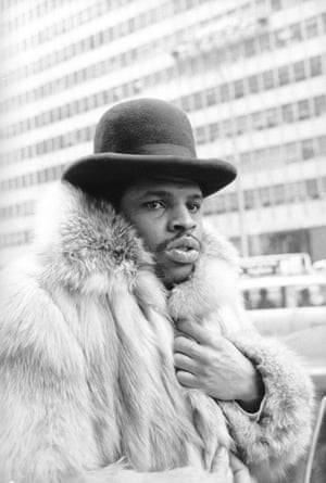 Leon Spinks on Park Avenue in New York City, 1979.