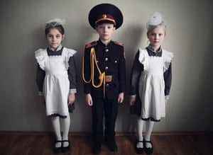 More children at the military boarding school in Kiev