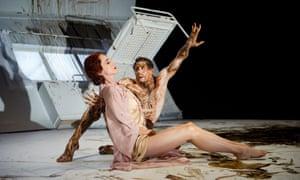 Edward Watson and Nina Goldman in The Metamorphosis by the Royal Ballet.