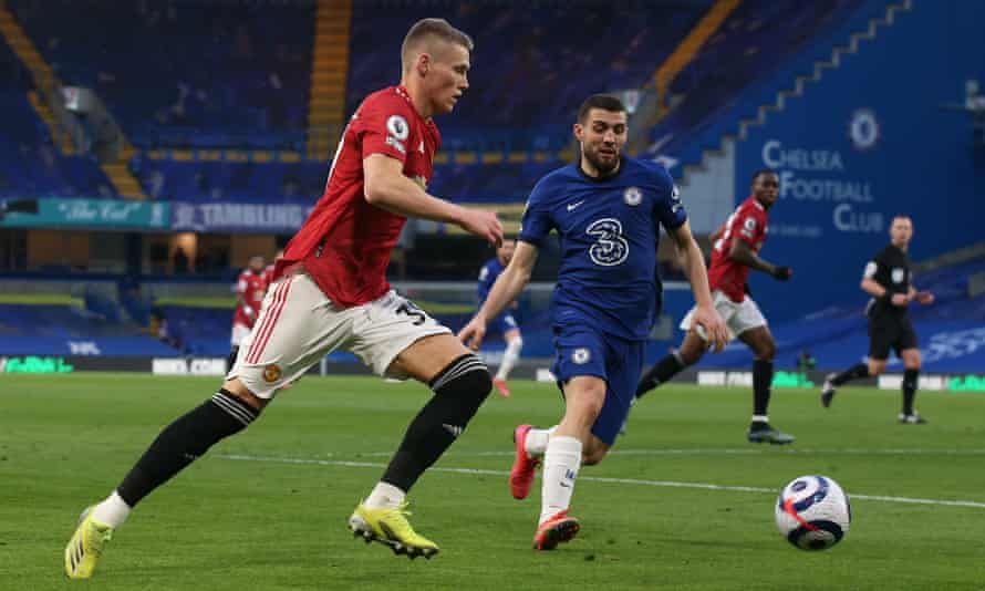 Scott McTominay in action for Manchester Unite against Chelsea