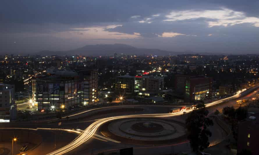 The high city of Addis Ababa is located between two climatic zones.