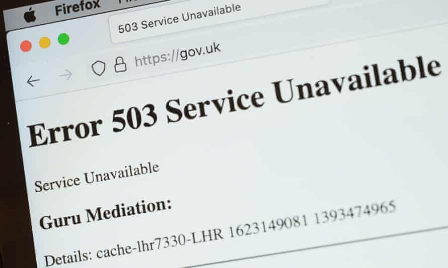 Government website temporarily offline