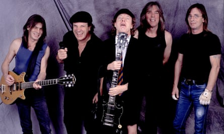 AC/DC in 2001: Malcolm Young, Brian Johnson, Angus Young, Cliff Williams and Phil Rudd.